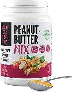Mélange de beurre de cacahuètes, de noix de cajou et d'amandes - 1kg de beurre de cacahuètes naturel sans sel ajouté, sans...