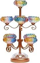 Glazed Lamp Holders for Buddha Lights, Household Lotus Candle Holders for Buddha Lights Colorful Butter Lamp Holders Buddh...