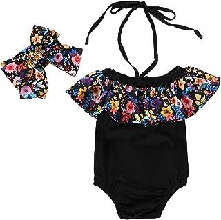 Chic Maillot de Bain 1 Pi/èce B/éb/é Fille Imprim/é Floral Bowknot Dos Nu Bikini /Ét/é Plage Baignade Beachwear Swimsuit pour 0-24 Mois