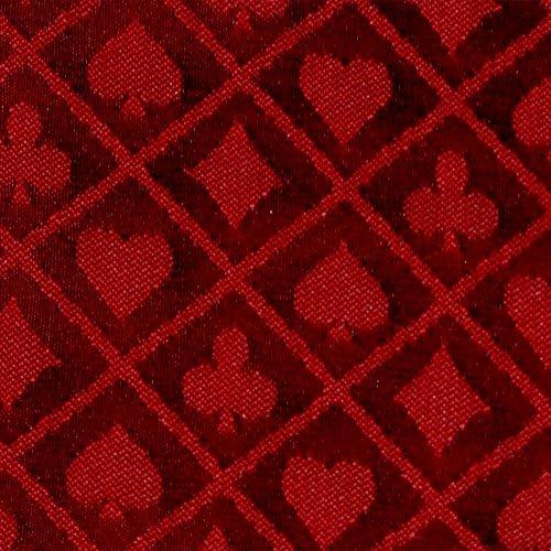Brybelly Zweifarbige Poker-Tischdecke, 3 m, Rot