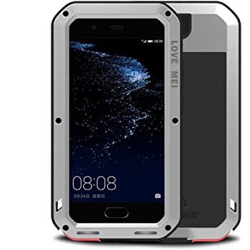 LOVE MEI Huawei P10 Plus Funda, Metal Aluminio Cover Extreme Alta ...