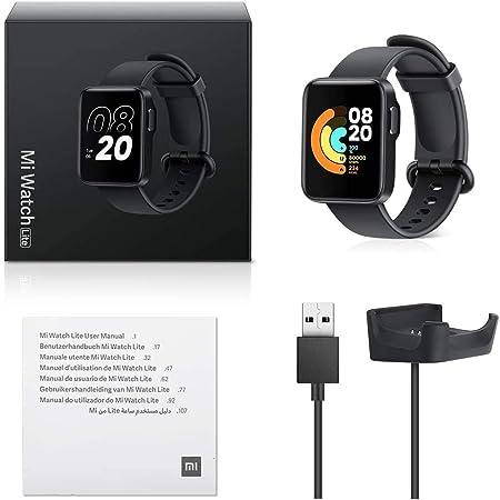 Xiaomi Reloj inteligente Watch Lite Reloj Inteligente Deportivos Impermeable Monitor de sueño Reloj Deportivo para Monitoreo de frecuencia cardíaca Control de música Notificaciones de Mensajes