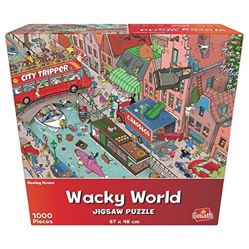 Goliath- Puzzle Mudanza Wacky World, Multicolor (919245006)