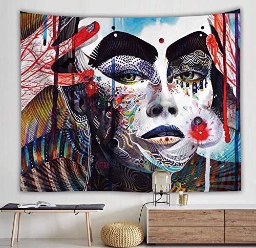 WERT Tapiz de Personaje Abstracto Hermosa Mujer Manta Colgante de Pared Arte hogar Sala de Estar Dormitorio decoración Manta de Playa A3 100x150cm