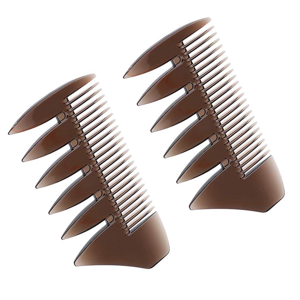 クライストチャーチくぼみ多分Perfeclan メンズコーム 粗め 携帯 2個セット あらめ ブラシ 櫛 静電気防止