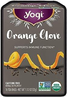 Yogi Limited Release Seasonal Orange Clove Tea - Caffeine Free Herbal Tea (16 Tea Bags - Net Wt 1.12 Oz)