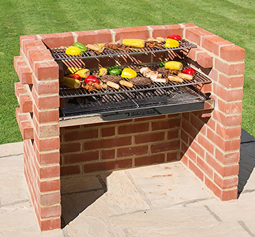 BLACK KNIGHT BARBECUES BKB 303 90 x 90 x 39 cm Grand Kit Barbecue – en Acier Inoxydable