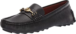 COACH Womens Crosby Pebbled Leather Loafers