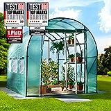 BRAST Serre de Jardin 6m2 (3x2) extrêmement stable : Tubes d'acier galvanisés et Film spéciale de protection grillagé 175 g/m2, aération optimale, montage rapide