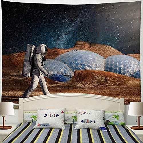 Astronauta espacial Rectangular Art Tapiz de pared Estera de viaje Manta de playa Decoración del hogar Tapiz Tela de fondo A2 73x95cm