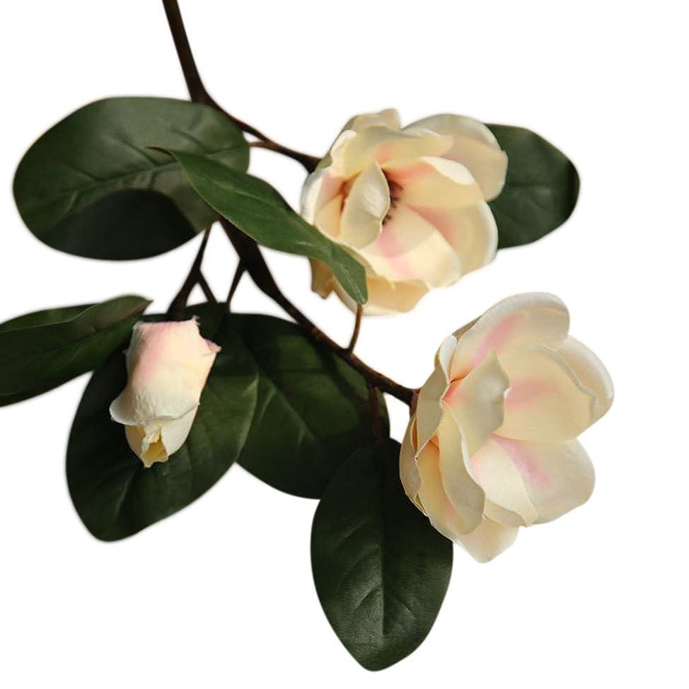 シソーラス却下する消費Farantasy造花Fashion 美しい本物の人工偽の花の葉マグノリアの花の結婚式のブーケパーティーホーム装飾人工花