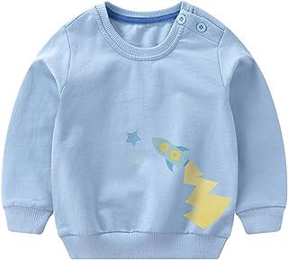 [スゴフィ]SGFY ボーイズ トレーナー パーカー 男の子 女の子 キッズ ベビー 長袖 Tシャツ 子供服 春 夏 ブルドーザー柄 3色