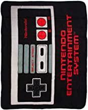 "BIOWORLD Nintendo Retro NES Controller Throw Blanket, 48"" x 60"""