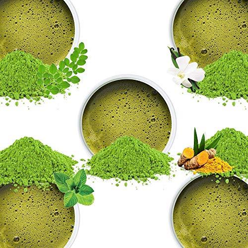 VAHDAM, Surtido de Té Verde Matcha, 5 TÉS   100% Puro Matcha en Polvo Japonés  137x AntiOXIDANTES   Aumenta Energía, Concentración y Metabolismo   Té Verde Adelgazante   Regalo para el Día del Padre
