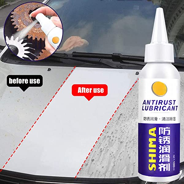 Rust Stain Remover Rust Remover Non Toxic Rust Dissolver 100ml Rust Remover Window Rust Inhibitor Wheel Hub Screw Derusting Spray For Derusting Metal Parts Car Maintenance