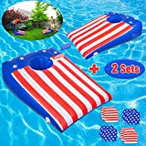 ROYPOUTA Pool Games, Pool Cornhole Inflatable 2 Sets, Pool Toys for Kids Teens Adults and Family with 8 Floating Bean Bags