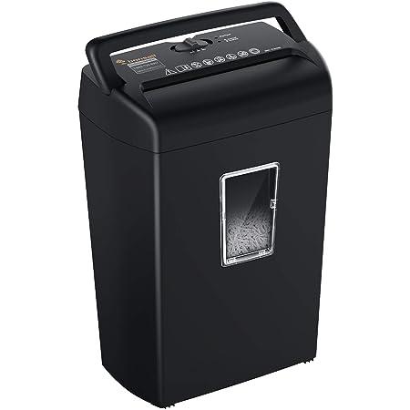 bonsaii 10-Sheet Paper Shredder, Credit Card Cross-Cut Shredders for Home Office Use, 5.5 Gallons Large Wastebasket with Transparent Window, Black (C209-D)