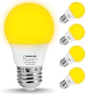 LOHAS Bug Light Bulb Yellow LED Bulbs, Outdoor Porch Lights, Amber Bedroom Night Light