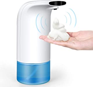 Jersa Automatic Soap Dispenser, Touchless Foaming Soap Dispenser Battery Operated Electric Hands Free Foam Soap Dispenser Waterproof Body for Bathroom and Kitchen, 300ml