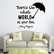 Wall Decal Quote Mary Poppins There Is Whole World At Your Feet Decals Vinyl Stickers Nursery Kids Art Inspirational Quotes Wall Decor Q195