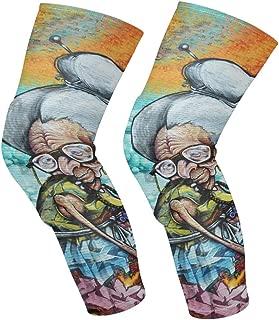 Knee Sleeve Montreal Canada April 07_ Street Art Grandma 2014 in Full Leg Brace Compression Long Sleeves Pads Socks for Meniscus Tear,Arthritis,Running,Workout,Basketball,Sports,Men and Women 1 Pair