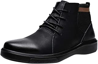 FWEIP Men's Chukka Boots Motorcycle Casual Hiking Boot Casual Lace-Up Business Work Comfort Gentleman Ankle Boots