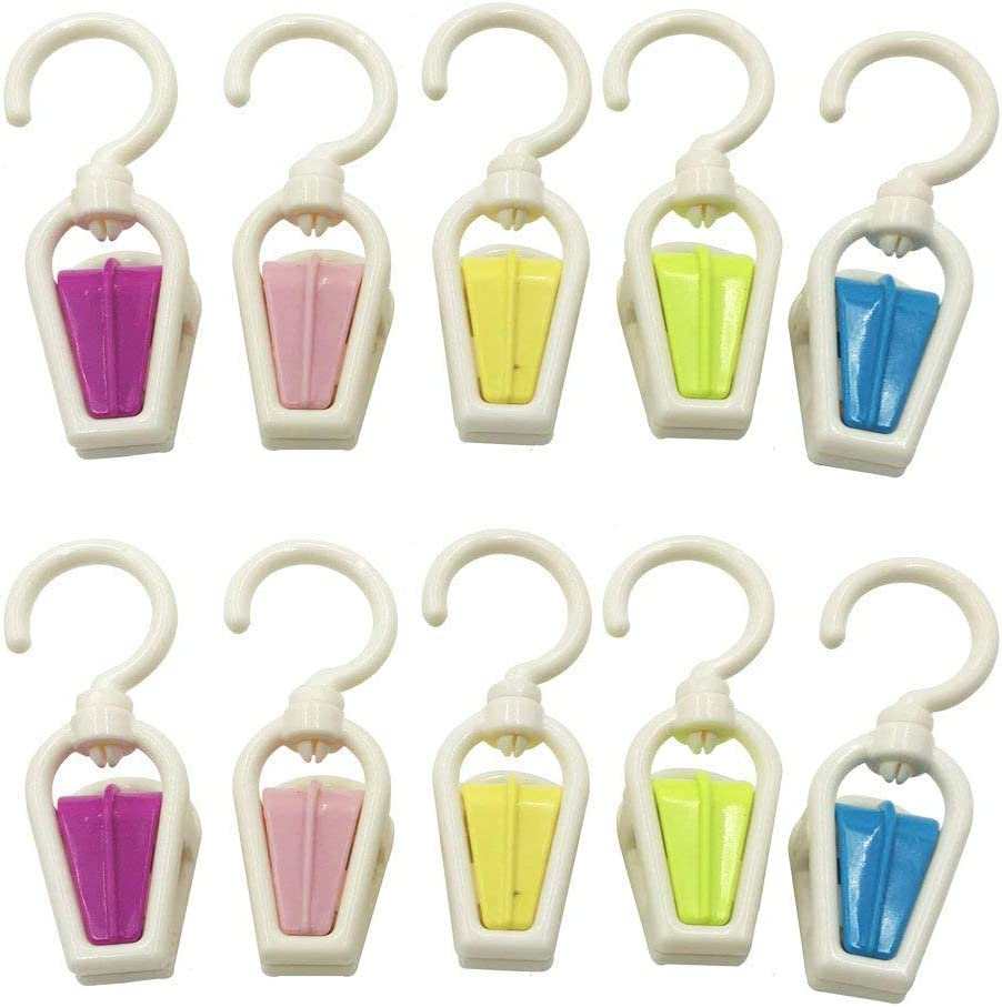 10pcs Be super welcome Assorted Color Portable Strong Swivel Plastic Hook shopping Multi-F