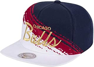 Mitchell and Ness NBA Independence Day Brushed Snapback Hat Bulls ADJ
