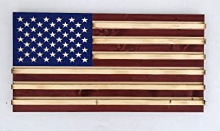 Large Rustic American Flag Challenge Coin Display