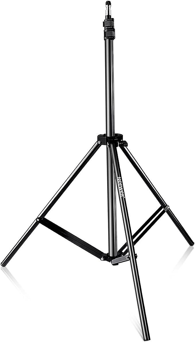 Neewer Pro 210 cm Pie de Estudio de Aleación de Aluminio para Iluminación de Vídeo, Retrato y Fotografía Peso Admitido 2.5 kg Hecho Por el Estándar industrial Compatible con Las Principales Marcas