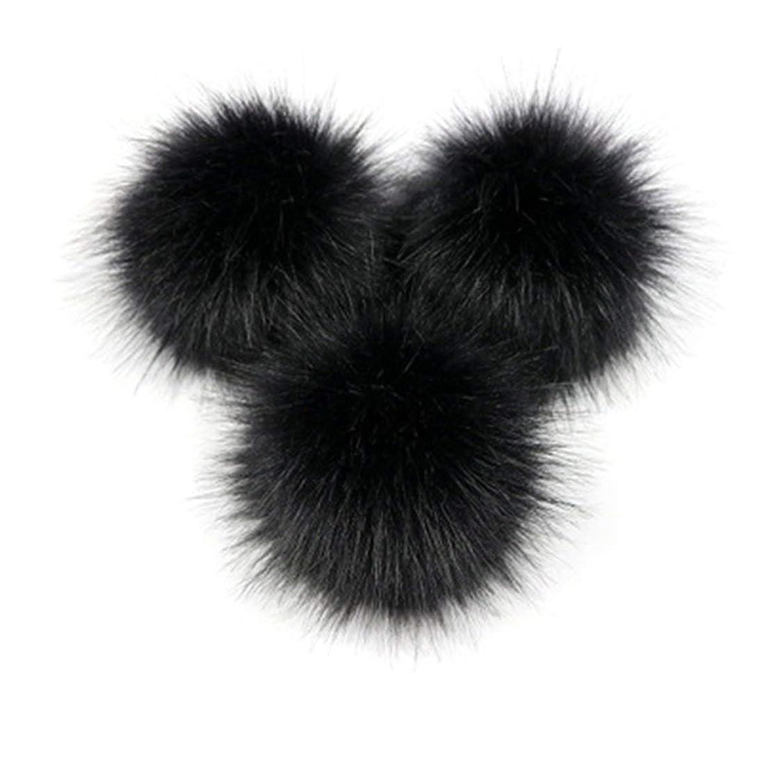 満足自動部屋を掃除するKongqiabonaかわいいキツネの毛皮のポンポン取り外し可能な毛皮ふわふわボブルボールでプレスボタン用diy帽子キャップバッグ服靴の装飾