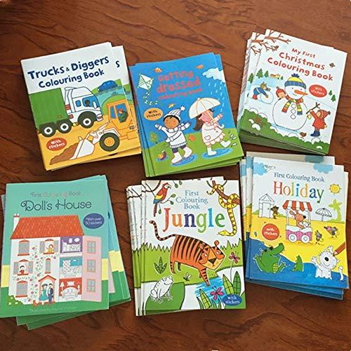 Schöne Aufkleber Bücher Szene Zeichnung Cartoon Aufkleber Bücher Kinder Englisch Malvorlagen Bilderbücher Geburtstagsgeschenke Spielzeug & Hobbys