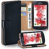 MoEx Premium Book-Hülle Handytasche passend für Samsung Galaxy Ace Style | Handyhülle mit Kartenfach & Ständer - 360 Grad Schutz Handy Tasche, Schwarz