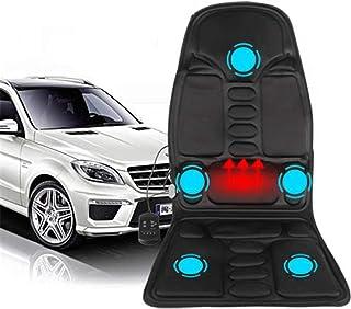 WSN Cojín de Asiento de Masaje vibratorio, Masajeador de Espalda con diseño de Control Remoto Inteligente de Calor Uso Dual para automóvil y hogar,A,US