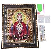 ロマンチックなバレンタインデー宗教パターン5D刺繡クロスクラフト、明るいダイヤモンドダイヤモンド絵画、ダイヤモンド刺繡アートクラフトアートトレーニングベッドルーム(PDB006)