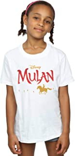 Disney Girls Mulan Movie Logo T-Shirt
