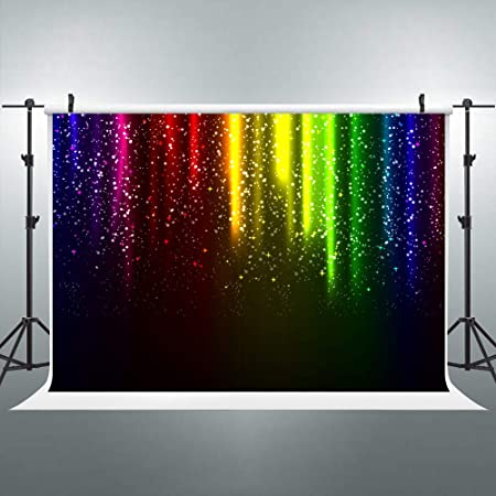 SZZWY 7x5ft Polyester Photo Studio Props Colorful Candies Neon Lights Backdrops Baby Children Theme Photo Party Photography Background LYGE456