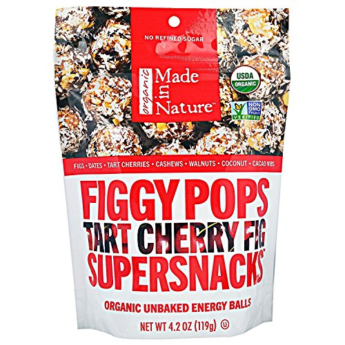 Made in Nature, Organic Figgy Pops, Supersnacks, Tart Cherry Fig, 4.2 oz, Pack of 2