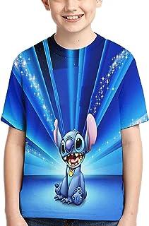 guoweiweiB Camisetas de Manga Corta para niño, STI-TCH Galaxy T-Shirt Tops Child tee Shirt Junior