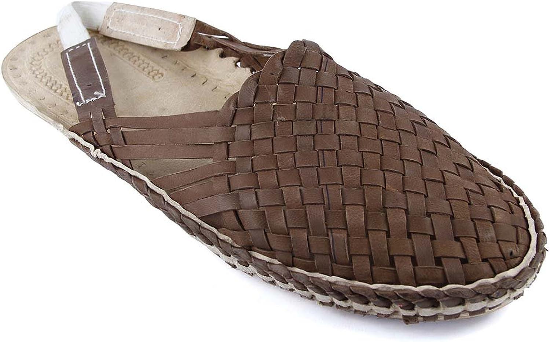 KOLHAPURI CHAPPAL Original Charming Light Brown Mat Style Back Belt kolhapuri Half shoes For Men Slipper Sandal