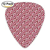 Christmas Peppermint Candy Scales Guitar Picks For Electric Guitar 12 Pack