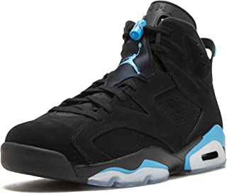 Jordan Men's Air 6 Retro, Black/University Blue, 15 M US