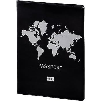 Hama Reisepass Datenschutzhülle (inkl. 2 Fächern im Kreditkarten-Format, NFC Schutz vor illegalem Auslesen der RFID Chips z.B. in ePass, Personalausweis, Bankkarte)
