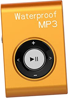 Prettyia Mp3 Music Player FM Radio Stereo Audio with Clip Lossless IPX8 Waterproof - Orange