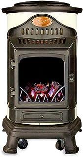 Fireside Estufa portatil de Gas butano de Color Crema con Panel Radiante Modelo Provence