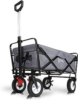 Sekey Folding Wagon, Folding Cart, Outdoor Garden Trailer, Transport Cart, Suitable for All Terrains, large