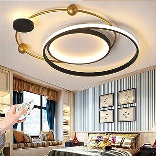 Plafonnier LED Lampe De Salon Moderne Plafond Rond Dimmable Avec Télécommande Table À Manger Décoration De La Chambre Aba...