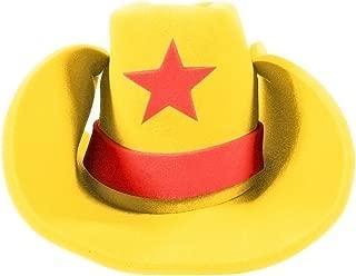 yellow foam cowboy hat
