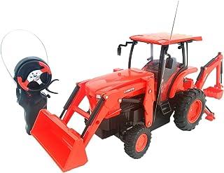 Cool Remote Control Kubota L6060 Loader and Backhoe Tractor- 6 H x 4 W x 14 L