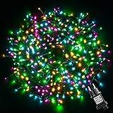 Guirnalda Luces Exterior Interior Impermeable, GlobaLink CadenadeLucesLED 50M 500LEDs, 8 Modos de Luz, Función de Memoria GuirnaldaLuminosa para Decoración Navidad Árbol Boda Casa Jardín-4 Colores